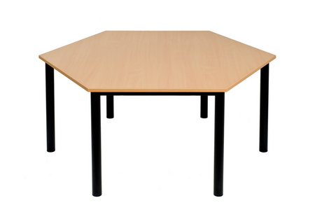 stół sześciokąt